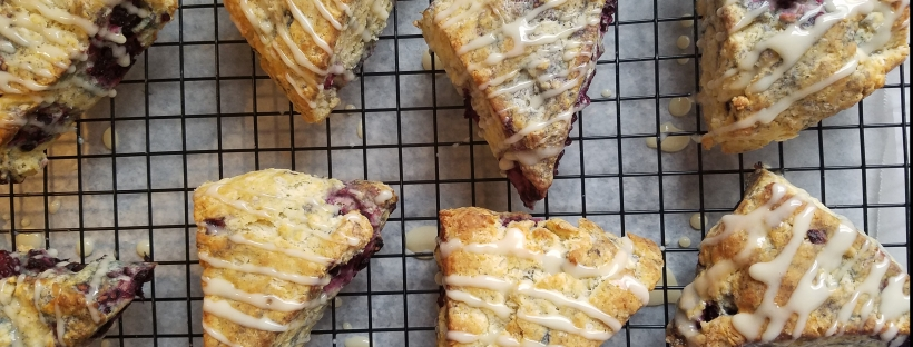Blackberry Almond Scones